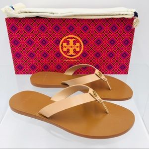 Tory Burch Manon Thong Sandals Natural Vachetta